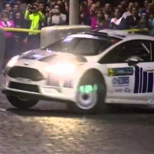 FIA ERC - SATA Rallye Açores 2014 - City Show - YouTube